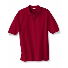 Hanes 054 Polo Shirts - Adult 5.2 oz., 50/50 EcoSmart® Jersey Knit Polo