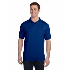 054P Adult 5.2 oz., 50/50 EcoSmart® Jersey Pocket Polo - Hanes Polo Shirts