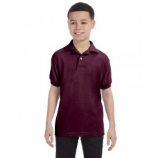 054Y Youth 50/50 EcoSmart® Jersey Knit Polo - Hanes Polo Shirts