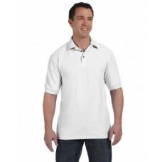 055 Men's 7 oz. ComfortSoft® Cotton Piqué Polo - Hanes Mens Polo Shirts