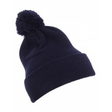 1501P Cuffed Knit Beanie with Pom Pom Hat - Yupoong Beanies
