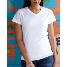 1507 Ladies' V-Neck Sublimation T-Shirt - Sublivie Womens T Shirts