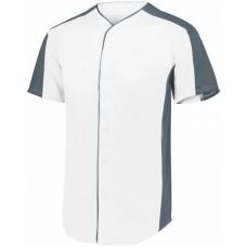 1655 Adult Full-Button Baseball Jersey - Augusta Sportswear Jersey T Shirts