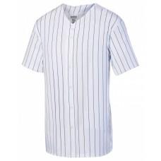 1685 Unisex Pin Stripe Full Button Baseball Jersey - Augusta Drop Ship Jersey T Shirts