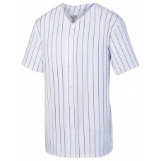 1686 Youth Pin Strp Full Button Baseball Jersey - Augusta Drop Ship Jersey T Shirts