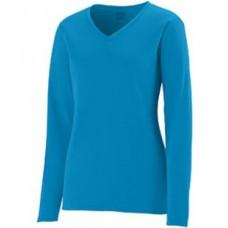 1788 Ladies' Wicking Long-Sleeve T-Shirt - Augusta Drop Ship Womens T Shirts