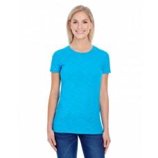201A Ladies' Slub Jersey Short-Sleeve T-Shirt - Threadfast Apparel Women T Shirts