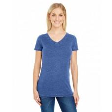 208B Ladies' Vintage Dye Short-Sleeve V-Neck T-Shirt - Threadfast Apparel Womens T Shirts