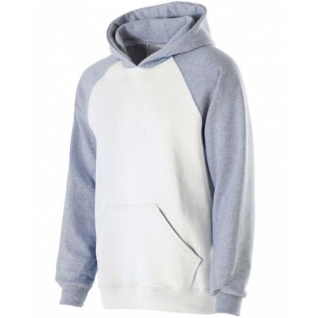 229279 Youth Cotton/Poly Fleece Banner Hoodie - Holloway Hoodies Sweatshirts