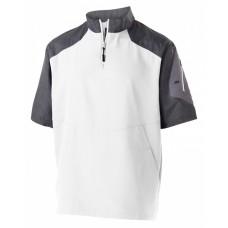 229545 Unisex Ultra-Lightweight Aero-Tec™ Raider Short-Sleeve Warm-Up Pullover - Holloway Pullover Shirts