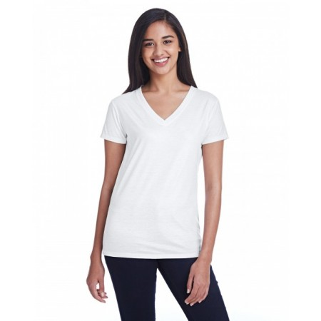 240RV Ladies' Liquid Jersey V-Neck T-Shirt - Threadfast Apparel Womens T Shirts