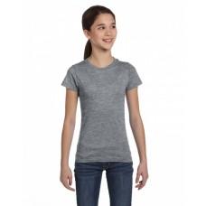 2616 Girls' Fine Jersey T-Shirt - LAT Jersey T Shirts