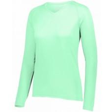 2797 Ladies' Attain Wicking Long-Sleeve T-Shirt - Augusta Drop Ship Womens T Shirts
