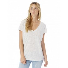 Ladies' Slinky-Jersey V-Neck T-Shirt