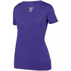 2902 Ladies' Shadow TonalHeather Short-Sleeve Training T-Shirt - Augusta Sportswear Womens T Shirts