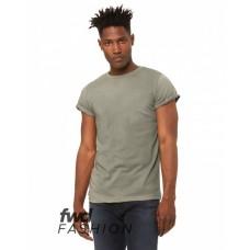 3004C FWD Fashion Unisex Jersey Rolled Cuff T-Shirt - Bella + Canvas Jersey T Shirts