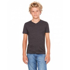 3005Y Youth Jersey Short-Sleeve V-Neck T-Shirt - Bella + Canvas Jersey T Shirts