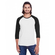 302G Unisex Triblend 3/4-Sleeve Raglan - Threadfast Apparel Tri Blend T Shirts
