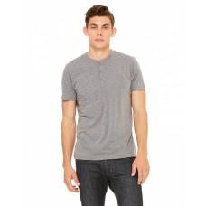 3125 Men's Triblend Short-Sleeve Henley - Bella + Canvas Mens T Shirts