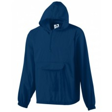 31300 Hooded Nylon Half Zip Pullover Pouch Jacket - Augusta Drop Ship Jackets
