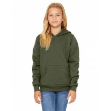 3719Y Youth Sponge Fleece Pullover Hooded Sweatshirt - Bella + Canvas Hooded Sweatshirts