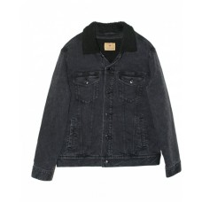 372J Unisex Sherpa-Lined Denim Jacket - Threadfast Apparel Jackets