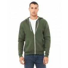 3739 Unisex Poly-Cotton Fleece Full-Zip Hooded Sweatshirt - Bella + Canvas Hooded Sweatshirts
