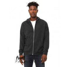3741 FWD Fashion Unisex Full-Zip Fleece with Zippered Hood - Bella + Canvas Hooded Sweatshirts