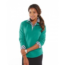 3764 Ladies' French Terry 1/4-Zip Pullover - LAT Terry Sweatshirts