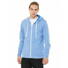 3909 Unisex Triblend Sponge Fleece Full-Zip Hoodie - Bella + Canvas Hoodies Sweatshirts