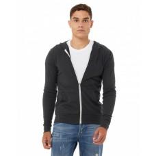 3939 Unisex Triblend Full-Zip Lightweight Hoodie - Bella + Canvas Hoodies Sweatshirts