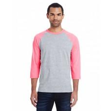 42BA Men's 4.5 oz., 60/40 Ringspun Cotton/Polyester X-Temp® Baseball T-Shirt - Hanes Mens T Shirts
