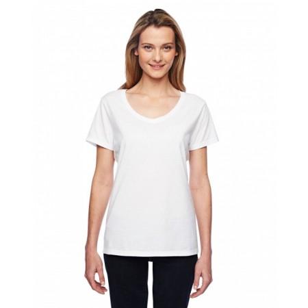 Hanes 42V0 Shirts - Ladies' 4.5 oz. X-Temp® Performance V-Neck
