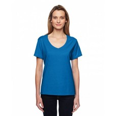 Hanes 42V0 Shirts - Ladies' 4.5 oz. X-Temp® Performance V-Neck