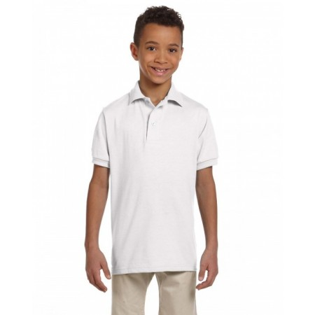 437Y Youth SpotShield™ Jersey Polo - Jerzees Polo Shirts