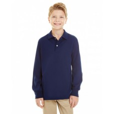 437YL Youth SpotShield™ Long-Sleeve Jersey Polo - Jerzees Polo Shirts