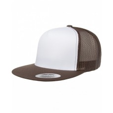 6006W Adult Classic Trucker with White Front Panel Cap - Yupoong Caps