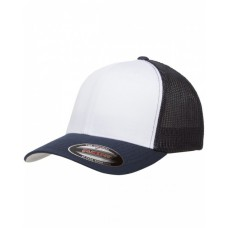 6511W Flexfit Trucker Mesh with White Front Panels Cap - Yupoong Caps