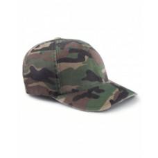 6977CA Adult Cotton Camouflage Cap - Flexfit Caps