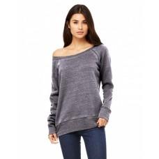 7501 Ladies' Sponge Fleece Wide Neck Sweatshirt - Bella + Canvas Wide Neck Sweatshirts