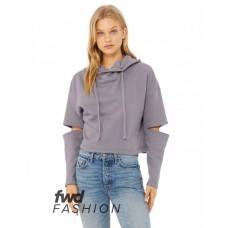 7504 FWD Fashion Ladies' Cut Out Hooded Fleece - Bella + Canvas Hooded Sweatshirts
