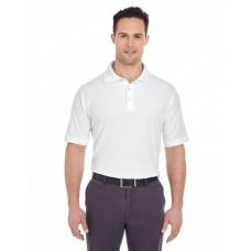7510 Men's Platinum Honeycomb Piqué Polo - UltraClub Mens Polo Shirts