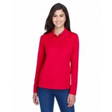 78192 Ladies' Pinnacle Performance Long-Sleeve Piqué Polo - Core 365 Women Polo Shirts