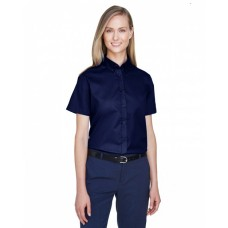 78194 Ladies' Optimum Short-Sleeve Twill Shirt - Core 365 Women Woven Shirts