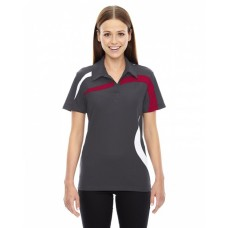 78645 Ladies' Impact Performance Polyester Piqué Colorblock Polo - North End Women Polo Shirts