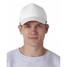 8120 Adult Classic Cut Cotton Twill 5-Panel Cap - UltraClub Caps