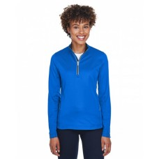 8230L Ladies' Cool & Dry Sport Quarter-Zip Pullover - UltraClub Womens Sweatshirts