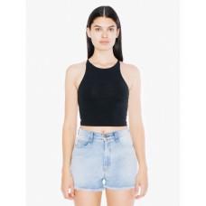 Ladies' Cotton Spandex Sleeveless Crop Top