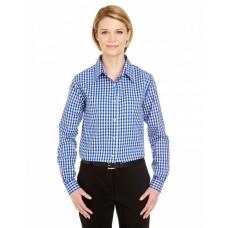 8385L Ladies' Medium-Check Woven - UltraClub Women Woven Shirts