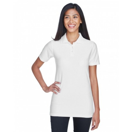 8413L Ladies' Cool & Dry Elite Tonal Stripe Performance Polo - UltraClub Women Polo Shirts